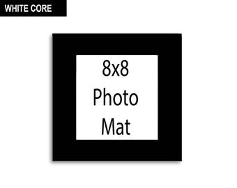 Multiple Colors - Any Opening Size - 8x8 Photo Mat (WHITE CORE)