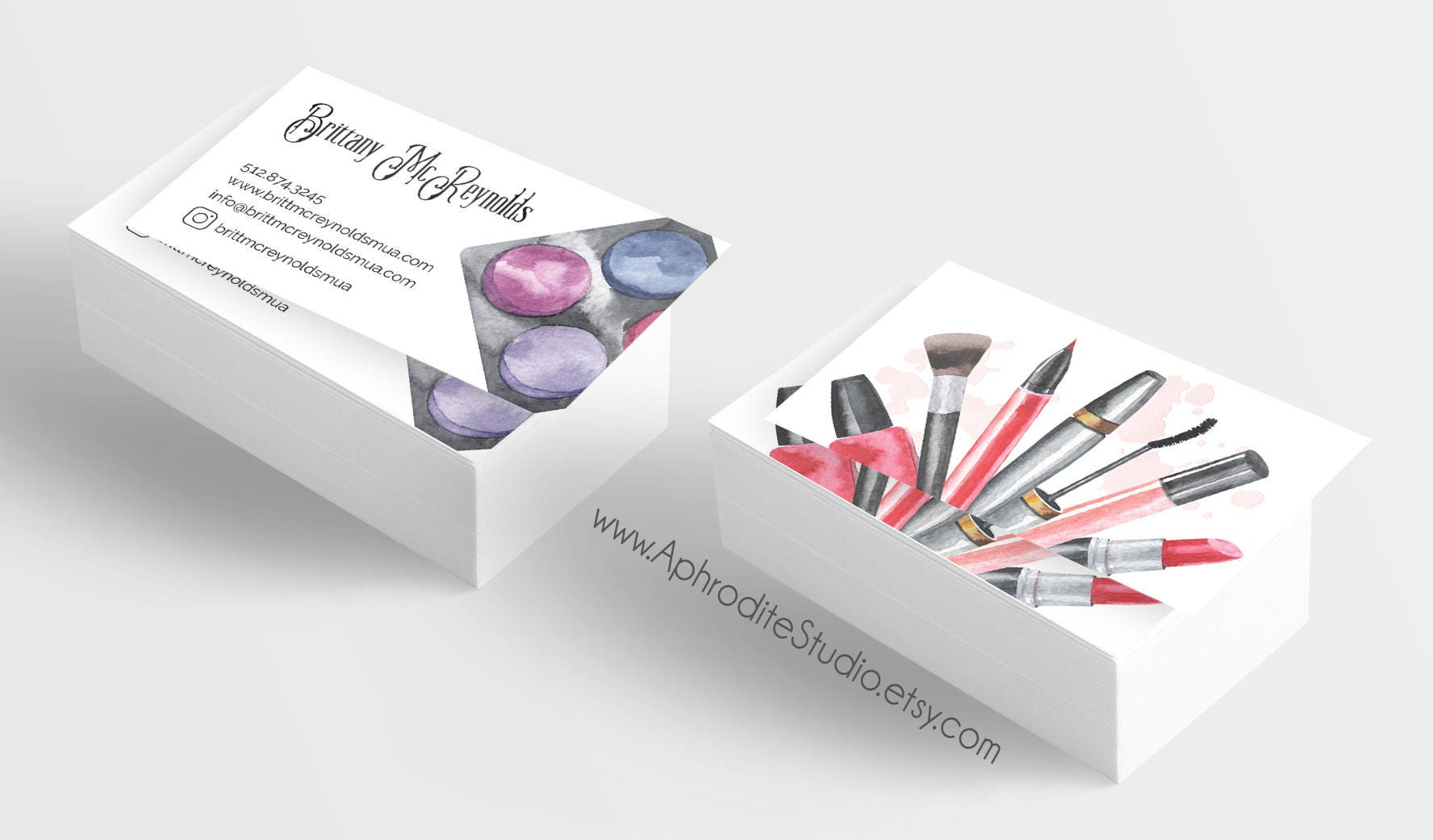 Make up artist business cards - Beautician business cards ...