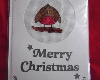 Finished Robin - Christmas Card