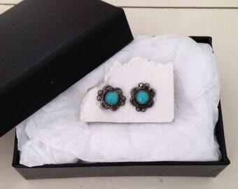 Botanical Jewelry - Flower Earrings - Flower Jewelry - Aesthetic Jewelry - Blue Earrings- Earrings - Jewelry - 90s Grunge - Boho - Unicorn