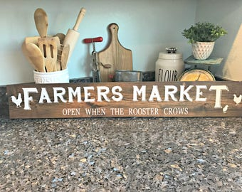Farmers Market Sign , Rustic Farm Sign , Reclaimed Wood , Vintage Market Sign , Farmhouse Sign , Fixer Upper , Farmhouse Collection