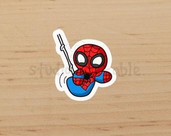Spider Bit Glossy Die Cut Sticker / S352