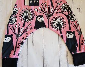 Pink Bear Harem Pants