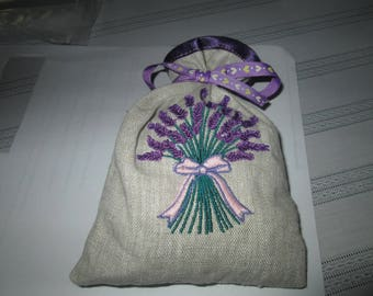 Lavender sachet with Ribbon and pretty Lavender broderiebouquet