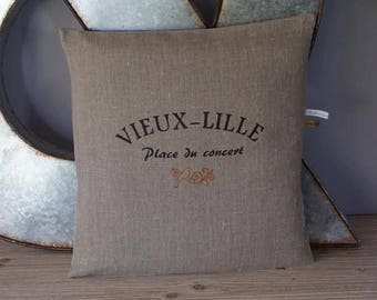 """""""OLD LILLE"""" PURE LINEN PILLOW COVER"""