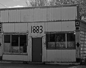 Black & White Photography-Old Grocery Store