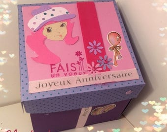 """a little girl's birthday gift box """"album photos or jewelry box... .personnalisable"""""""