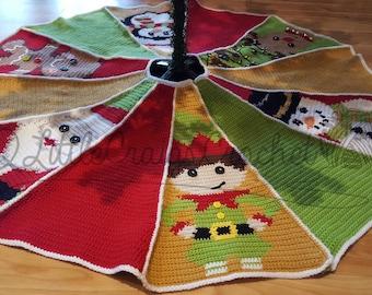 Crochet Christmas Tree Skirt - Crochet Tree Skirt - Crochet Christmas - Crochet Graph Tree Skirt - Christmas Tree Skirt - Tree Skirt Pattern