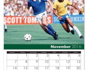 Personalised Football Desktop Calendar