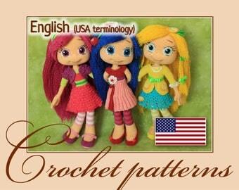 Raspberry Torte, Cherry Jam and Lemon Meringue - Amigurumi Crochet Patterns PDF files by Anna Sadovskaya