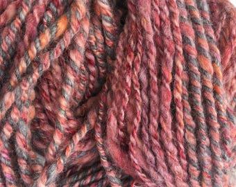 Flannel - Hand Spun, Hand Dyed Alpaca Yarn