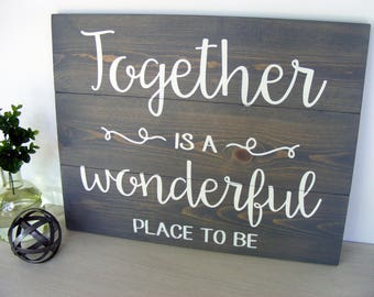 Attrayant Together Sign   Gray Pallet Sign   Gray Decor Sign   Family Room Decor    Living