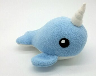 Narwhal Plushie - MADE TO ORDER -