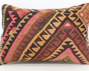 16x24 Geometric Kilim Pillow Sofa Pillow 16x24 Anatolian Kilim Pillow Turkish Kilim Pillow Home Decor Cushion Cover SP4060-750