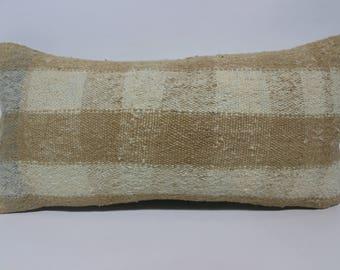 Bohemian Kilim Pillow Flat Woven Kilim Pillow 12x24 White Kilim Pillow Ethnic Pillow Sofa Pillow Handwoven Kilim Pillow SP3060-1503