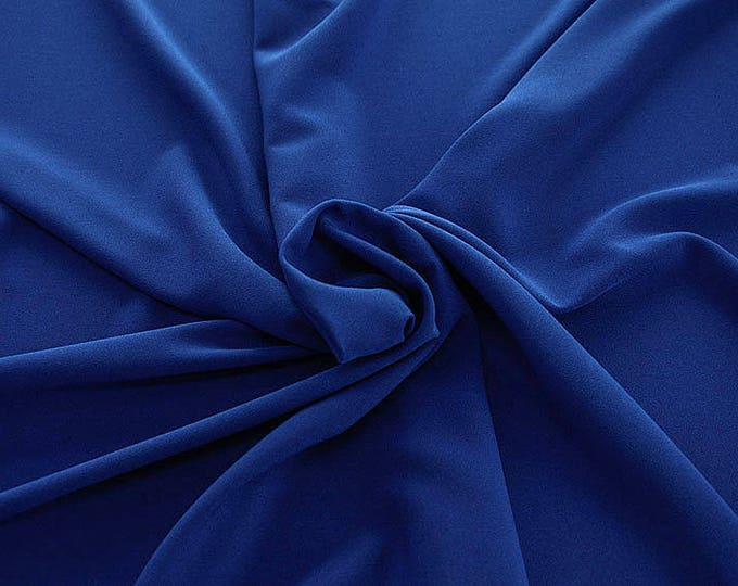 905141-Crepe 100% Polyester, width 150 cm, made in Italy, dry washing, weight 306 gr