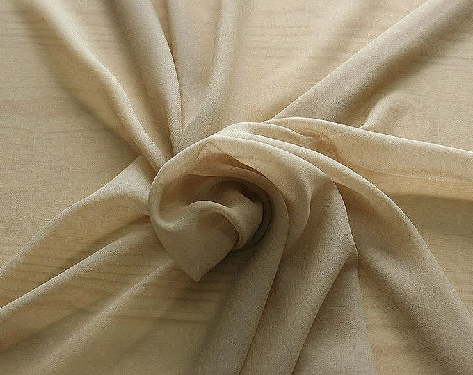 316009-natural Silk Georgette 100%, width 135/140 cm, made in Italy, dry cleaning, weight 50 gr