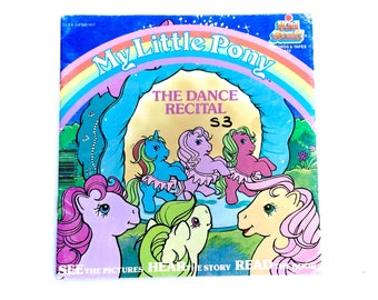 G1 My Little Pony The Dance Recital Book Paperback Kids Stuff 1986 Hasbro 80s Hasbro 1980s Original Retro Vintage Ponies Ballet Ballerina