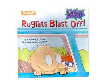 Vintage Rugrats Blast Off Nickelodeon Paperback Book by Stephanie St. Pierre and George Ulrich Classic 90s TV Show Cartoon Movie Retro 1990s