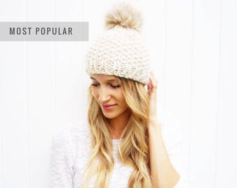 Faux Fur Pom Hat