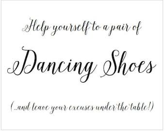 Digital Signs - 8 x 10 Dancing Shoes