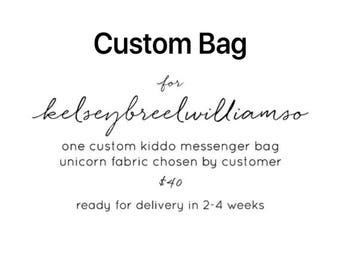 Custom Kid's Messenger Bag for kelseybreelwilliamso