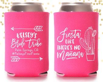 Desert Cactus Bachelorette Fiesta Can Cooler Beer Cozy Party Favor