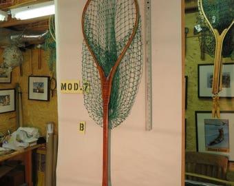 The Drift Boat,  A Handmade Wooden Landing Net