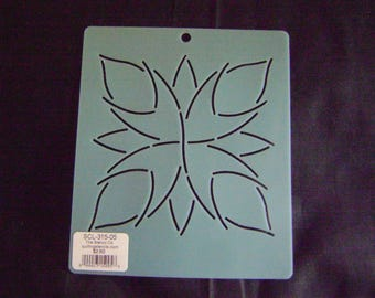Sashiko Japanese Embroidery Stencil 5 in. Passion Flower Motif Block/Quilting