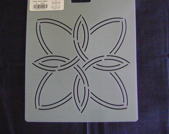 Sashiko Japanese/Traditional Embroidery/Quilting Stencil 6 in. Celtic Design Block/43