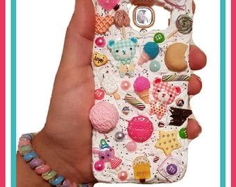 Decoden Mobile Phone Case, kawaii Samsung Galaxy S7 Edge,Cake cover,Treats,Sweets,Candy,Lollipop,Ice Cream