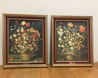 Vintage Set Framed Print by The Artist Brothers J. and P. Brueghel The Name of the paints are The Flowers in a Wooden Vassel