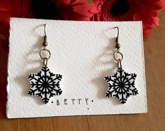Snowflackes earrings