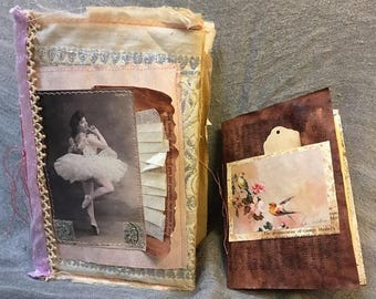 Handmade Ballet theme Junk Journal, Handmade Diary, Smashbook, Gluebook, OOAK Diary, Junk Journal, Junque Journal, Scrapbook, Notebook