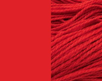 Wool yarn, red | bulky 2-ply worsted quick knit pure wool yarn 100g/130m