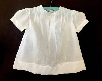 Sweet Vintage Embroidered Philippine Baby Dress for Baby or Doll