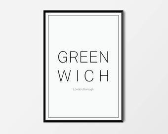 Greenwich, London Borough | London Print | London Artwork | London Illustration | Architecture Print | City Print