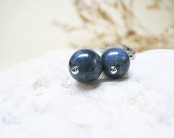 Sapphire Earrings Gemstone Earrings Dangle Earings Charm Earrings Sapphire Jewelry Sapphire Charm Healing Jewelry Gemstone Beaded Jewelry