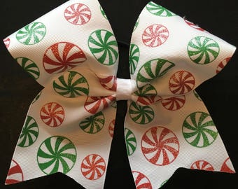 Peppermint Cadies Texas Sized Hair Bow