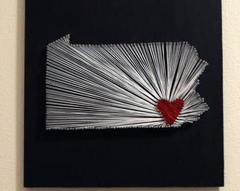 State / Country String art