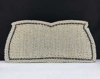 Faux Pearl clutch Vintage