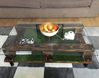 Glass Pallet Coffee Table