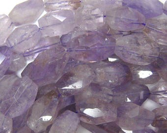 "25-26mm faceted amethyst nugget beads 15.5"" strand 33835"
