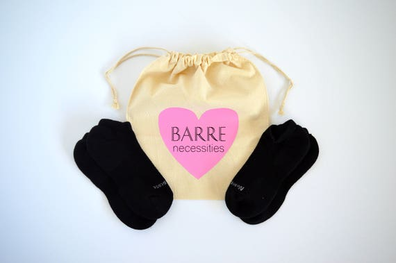 Barre Necessities - Exercise Socks Bag - Muslin Bag with Drawstring