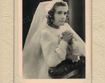 Photography old girl - 1950 - photography - fine art photography print - keepsake remembrance communion