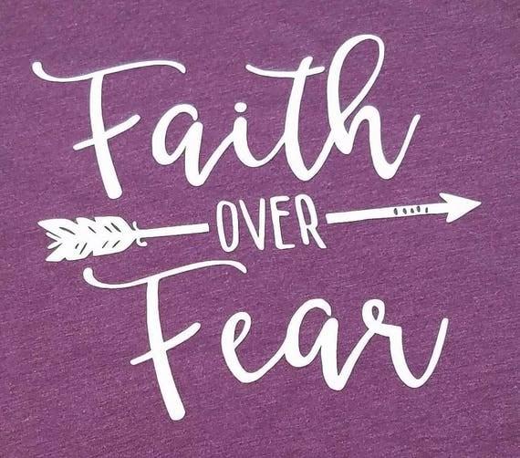 Iron On Transfer Iron On Faith Over Fear Graduation Gift