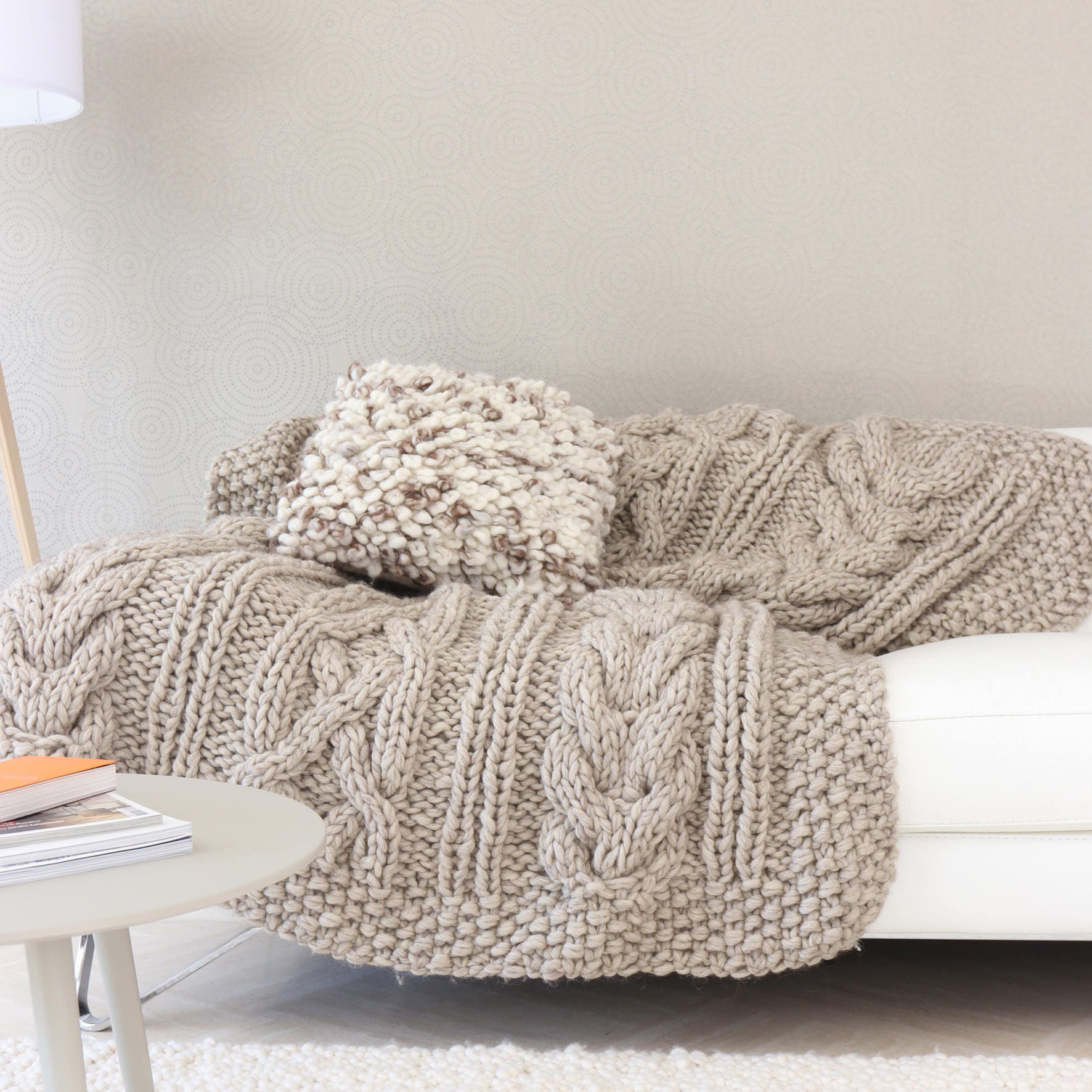 ripple afghans blanket plaid big chunky yarn super bulky. Black Bedroom Furniture Sets. Home Design Ideas