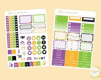 Halloween Mini Kit, Halloween Weekly Kit, Kawaii Halloween Stickers, Planner Stickers, Erin Condren Life Planner, Happy Planner