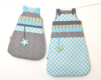 Sleeping bag with winter 0/6 and 6/24 months * birth Melanie and Camille list *.