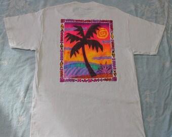 20% OFF Vintage  Hawaii T Shirt by Stedman Super Hi Cru Made in USA Rare